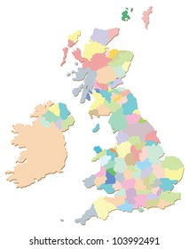 Uk Map Counties Images, Stock Photos & Vectors | Shutterstock Map Of The Counties In England on
