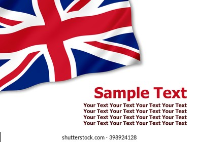 UK flag corner graphic decoration