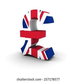 UK Flag Pound Symbol