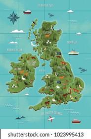 UK + Ireland Map Illustration