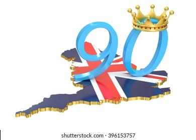 UK Queen's Anniversary concept, 3D rendering