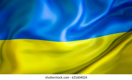 Ukraine flag. 3D Waving flag design. Blue and yellow flag. ukraine flag images background  colors. The national symbol of Ukraine. National sign of Ukraine for a background. Ukrainian flags on texture
