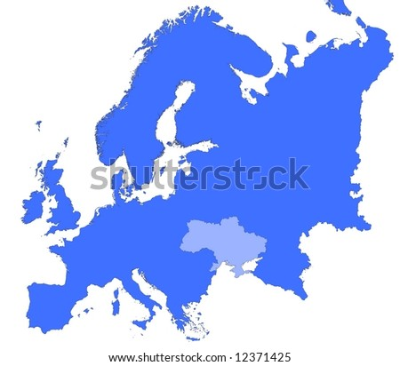 Royalty Free Stock Illustration Of Ukraine Location Europe Map