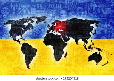 ukraine war conflict concept background illustration