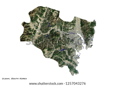 Ulsan Korea Map.Royalty Free Stock Illustration Of Ulsan South Korea Map 3 D