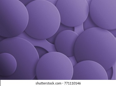 Ultra Violet - Pantone Color of the Year 2018, abstract background. Bubbles with different trendy violet shadows.