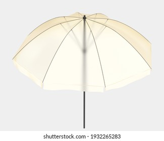 Umbrella isolated on background. 3d rendering - illustration