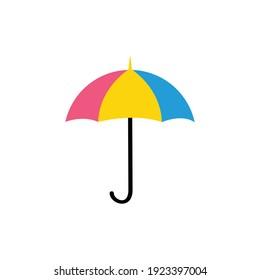 Umbrella isolated on a white background.  illustration.