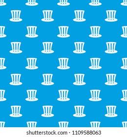 uncle sam hat pattern seamless simple stock illustration 647167438