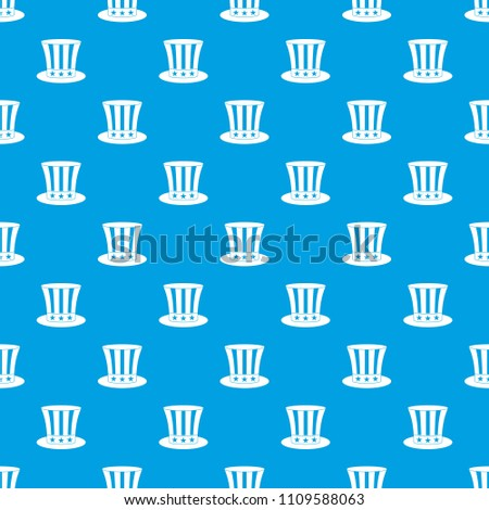 uncle sam hat pattern repeat seamless stock illustration 1109588063