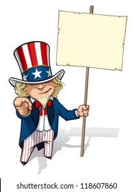 """Uncle Sam """"I Want You"""" Placard"""