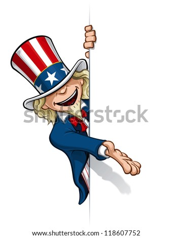 Uncle Sam Presenting a