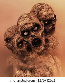 Undead,Scary zombie,3d illustration