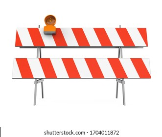 Under Construction Barrier Isolated. 3D rendering