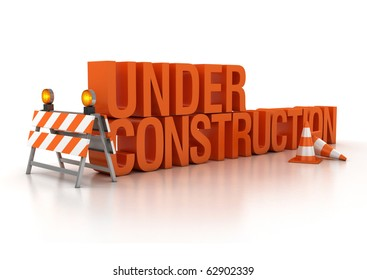 under construction sign 3d illustration
