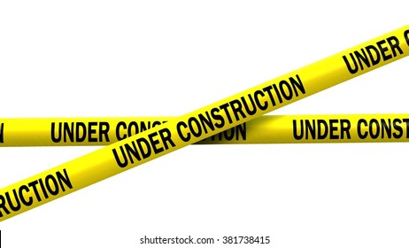 under construction tape - isolated