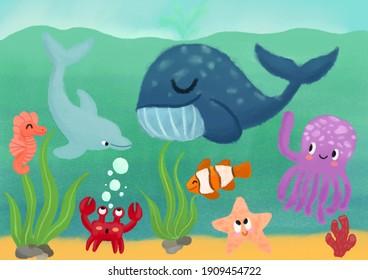 Under the Sea Children's Illustration