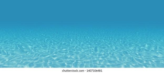 underwater scene with copy space. 3d render