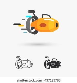 underwater scooter icon