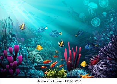 Underwater World. Raster