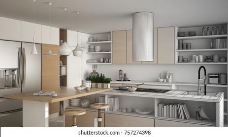 Ilustraciones Imagenes Y Vectores De Stock Sobre Cocina Ordenada