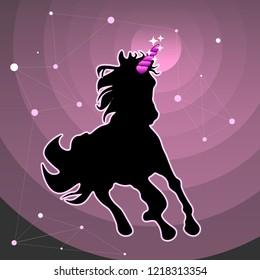 Unicorn Pink Star Galaxy unicornio lindo rosa