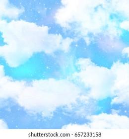 Unicorn Sky Print