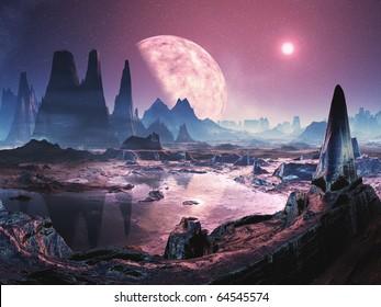 Uninhabited Alien Planet