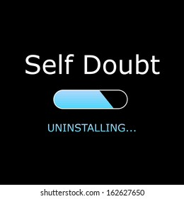 Uninstalling Self Doubt Illustration