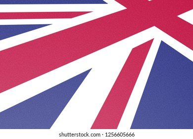 Union Jack Flag Graphic, Printed on Fine Carton Paper, Red, Blue, White, Perspective View, Grean Britain, United Kingdom, Presentation Cover
