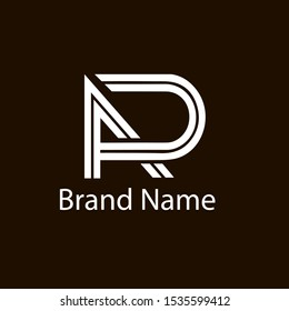 Unique attractive creative modern connected technological PR RP P R initial based letter icon logo design