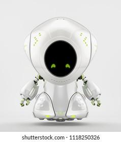 Unique robot toy, 3d rendering