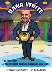 United Arab Emirates. September 7, 2019. The Arena, Yas Island in Abu Dhabi. UFC 242. Mixed martial arts event. Dana White. President of the Ultimate Fighting Championship (UFC).
