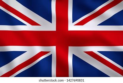 United Kingdom British Flag Waving Background Texture