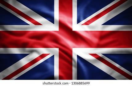 United Kingdom flag of silk