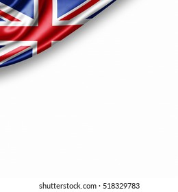 United Kingdom flag of silk with copyspace for your text or images and white background -3D illustration