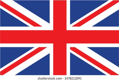 United kingdom national flag Official state symbol of country.