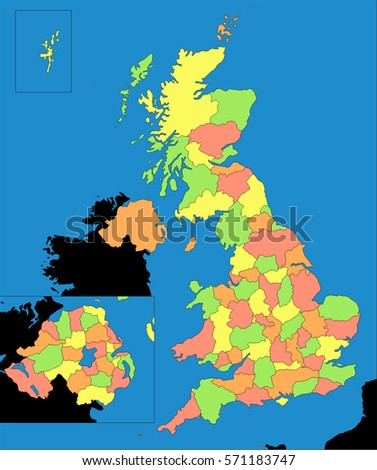 Political Map Of Great Britain.Royalty Free Stock Illustration Of United Kingdom Uk Great Britain