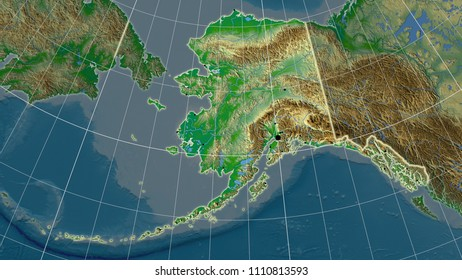 alaska physical map Images, Stock Photos & Vectors | Shutterstock