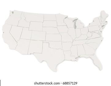United States of America - 3d illustration