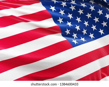 United states of america banner. Flag of USA. 3D illustration.