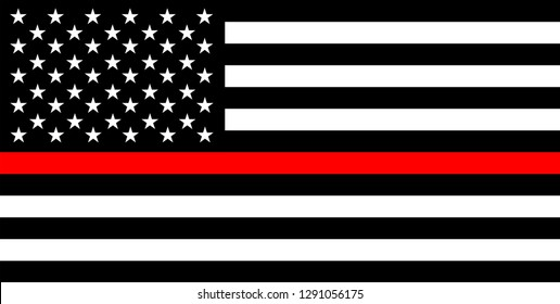 united states of america country police thin red line flag