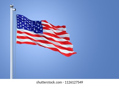 United States of America Country Waving Flag Background