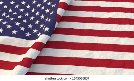 United States of America Flag 3D render Illustration