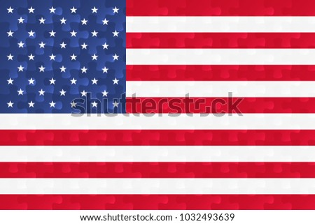 United States Of America Flag Jigsaw Puzzles Il Ration