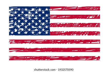 United States of America Flag Made with Art