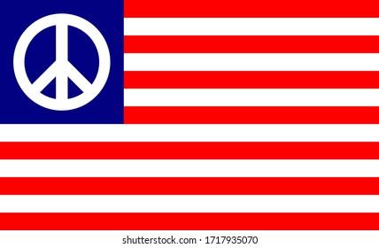 símbolo de la bandera de la paz de los Estados Unidos