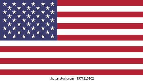 United States of america red white and blue country flag