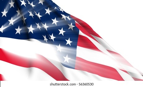 United States of America shine flag