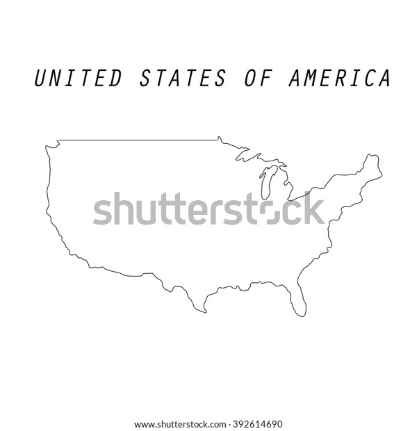 United States America Usa Map Outline Stock Illustration ...